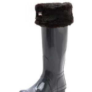 Hunter Faux Fur Welly Socks